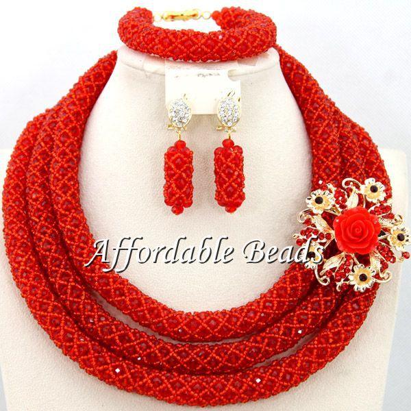 Beautiful Wedding Bridal Jewelry Set Best Sale African Jewelry Set Wholesale Free Shipping BN206 beautiful set