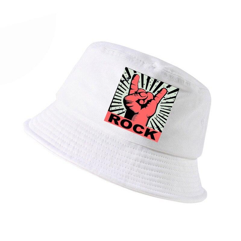 YDY Moda Hombre Estampado Rock Bob Sombrero de Cubo American Heavy Metal Rock Band Panam/á Cap Cool Summer Unisex Fisherman Sombreros