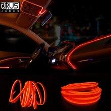 JURUS 3 метра водонепроницаемая гибкая неоновая электрическая проволока, Светодиодная лента, декоративные лампы, внутренний свет, 12 В, гнездо для автомобильного прикуривателя