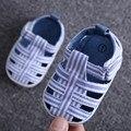 2017 Verão bebê menino sapato de Sola Macia Sapatos de Algodão Do Bebê Primeiros Caminhantes Moda Bebê Menina Sapatos Primeiro bebe Sapatos R12111