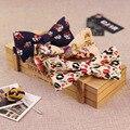 De lujo Paisley hombres Pajaritas Esmoquin Clásico Bowtie Floral Delgado de Cáñamo Algodón Para Hombre de Traje de Novio Bowtie Lazos Gravata Corbata