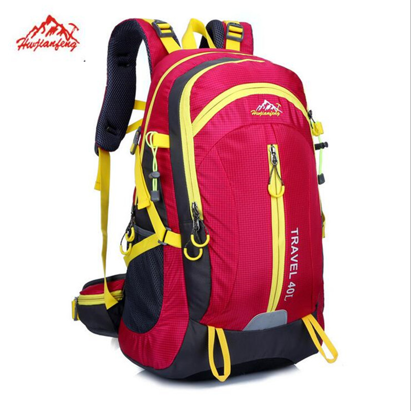 цены Rucksack 40L Outdoor Waterproof Hiker Backpack Mountain Climbing Knapsack Sports Bag Wayfarer Hiking Camping Travel haversack