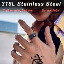 Байер 316L нержавеющая сталь широкая цепь Вязание Кольцо Личность Exagerrated специальное Высокое качество модные украшения LR499