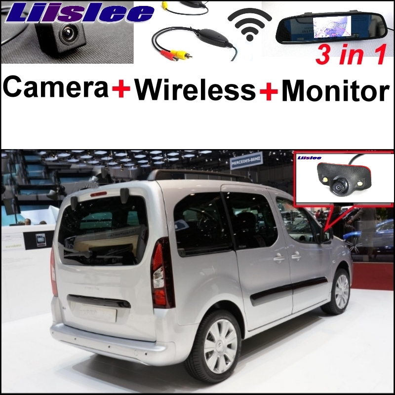 Liislee Special Camera Wireless Receiver Mirror Monitor Parking System For Citroen Berlingo For Peugeot Grand Raid Ranch Partner wireless pager system 433 92mhz wireless restaurant table buzzer with monitor and watch receiver 3 display 42 call button