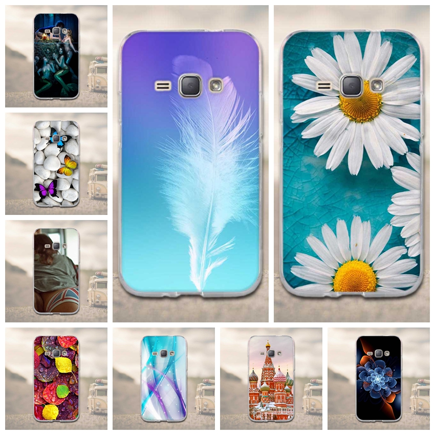 for Samsung Galaxy J1 2016 J120F Case Soft TPU Cover Silicon For Funda Samsung Galaxy J1 2016 Phone Case 3D Phone Back Cover