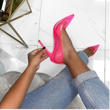 Pumps high heels shoes woman summer colour heels clear shoes  2019 luxury thin heels prom shoes italian shoes with matching bags new fashion italian shoes with matching bags for party african shoes and bag set good quality shoes for lady emf7213 5