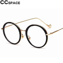3f375acc8a CCspace Round Glasses Frames Women Cat Eye Styles UV400 Metal Optical
