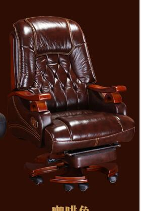 Leather Boss Chair Massage Can Lie In The Office Chair Family Computer Chair Swivel Chair Cow Leather Big Class Chair.