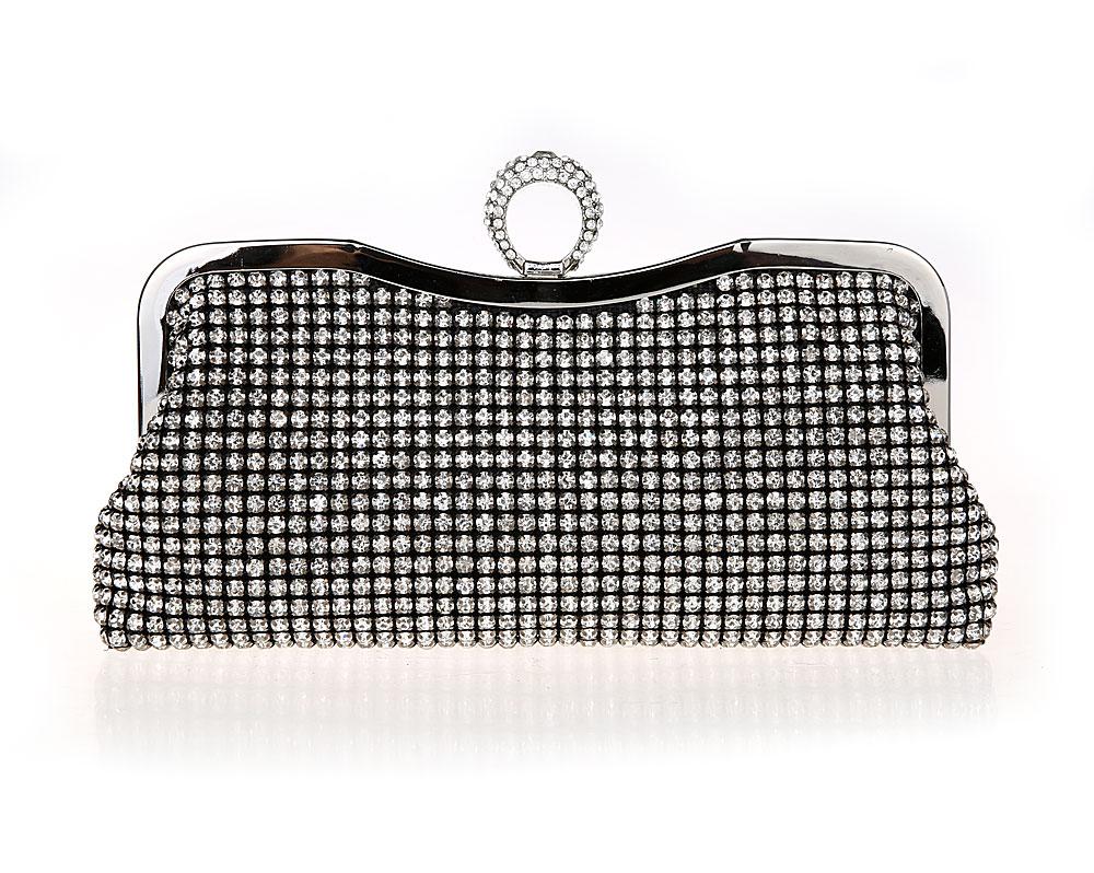 ФОТО 2016 New Luxury Women Rhinestone Clutch Bags Ladies Finger Ring Designer Handbags Purses Tote Messenger Bags sac a main bolsa