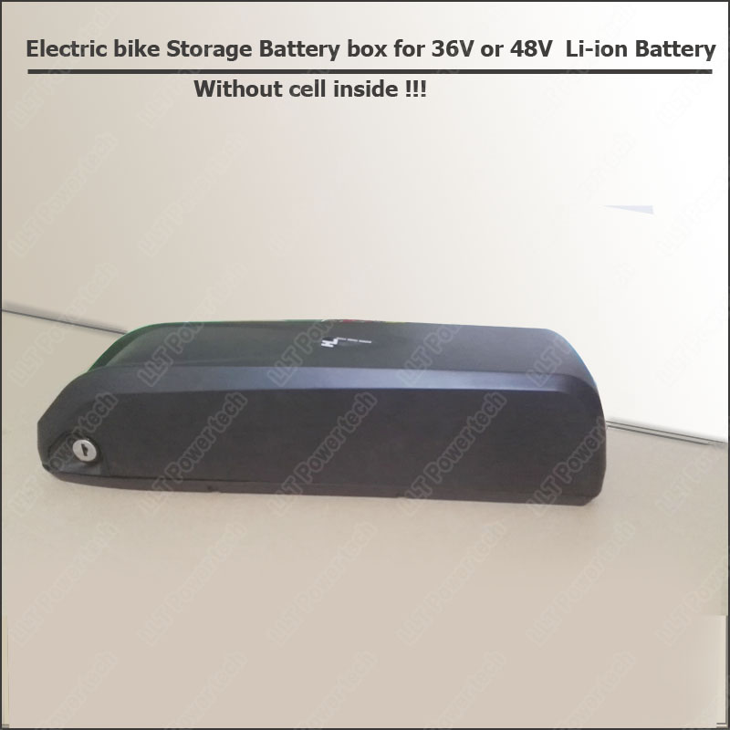 Down tube electric bike battery case and lithium ion storage box for 36V or 48V electric