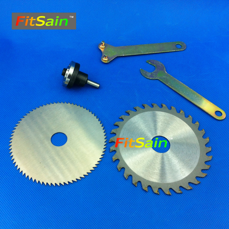 FitSain--4 100mm saw blades for wood plastic Cutting Discs Connecting rod shaft 6mm circular diamond garden for B10 drill chuck