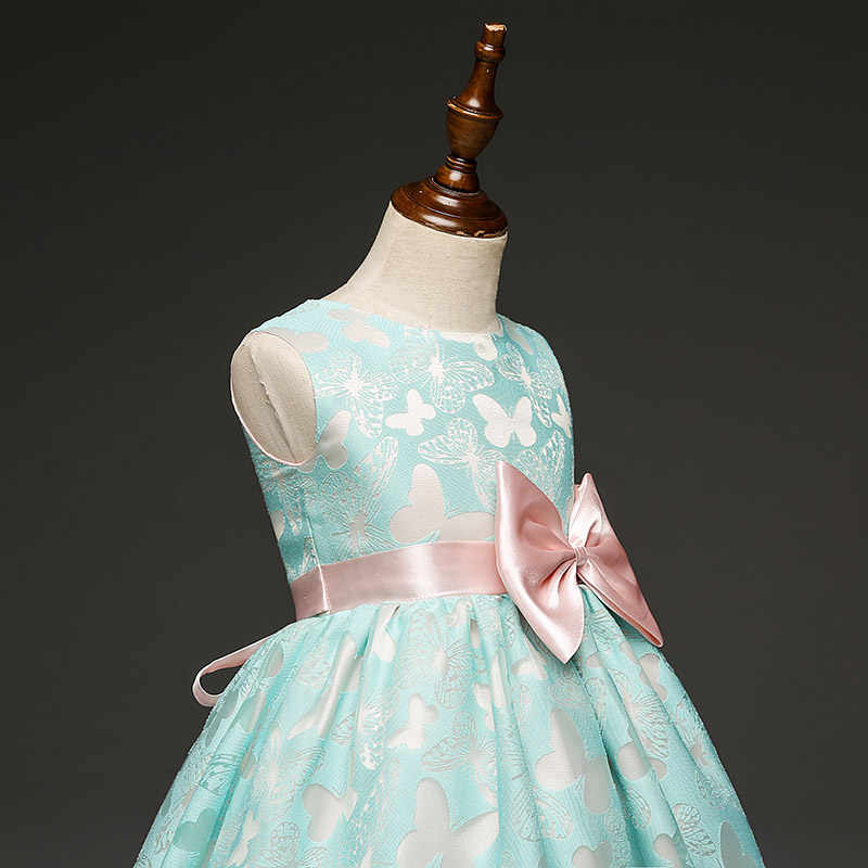 f3adc9bcffe7e Fancy Baby Dress for Girl Wedding Flower Girls Dresses Princess Print  Butterflies Formal Dress Prom Birthday Ball Gown Vestidos