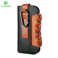 Outdoor Sports Waist Bags With Metal Hook Case For IPhone 7 Plus 6 6S Plus 5