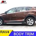 Car Styling For Toyota RAV4 Side Door Molding Stainless Steel  Body Trim Cover Stickers Strip for Toyota RAV4 2013-2016 2017