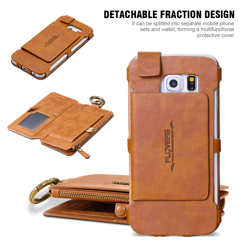 Leather Wallet and Card Phone Bag Case 1