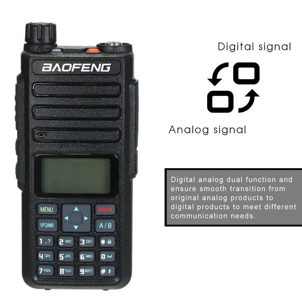 2018 BAOFENG Dual Band VHF UHF DM 1801 Portable Radio 5W Broadband Walkie Talkie Support Alarm