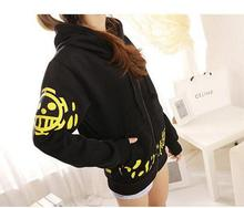 Anime One Piece Trafalgar Skull Jacket Luffy Cosplay Hoodies