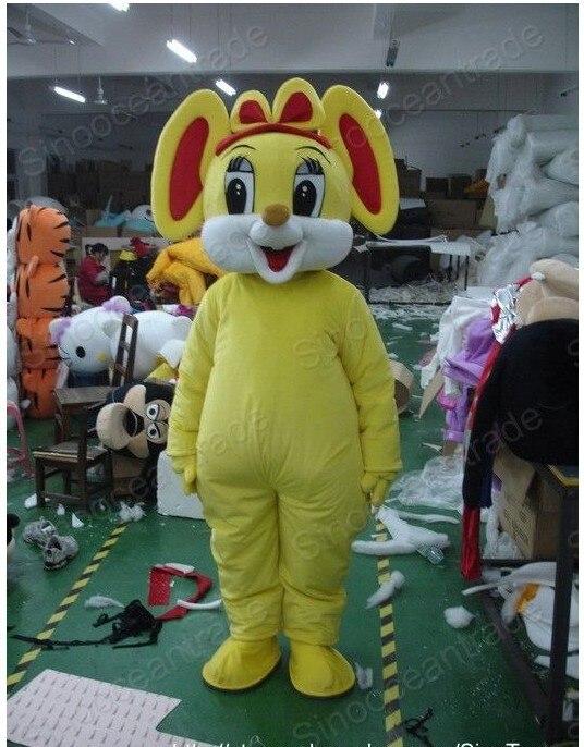 Souris jaune Rat homme mascotte Costume dessin animé costumes publicité mascotte animal costume école mascotte déguisements costumes