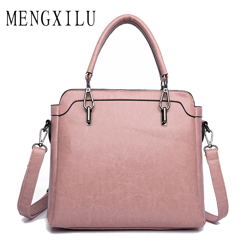 MENGXILU 2017 Fashion Women Bag Handbags Women Famous Designer Big Women Leather Handbags Luxury Ladies Hand Bags Shoulder Sac