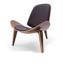 Modern creative art shell aircraft chair leisure Nordic smile chair to negotiate reading afternoon tea coffee single sofa chair