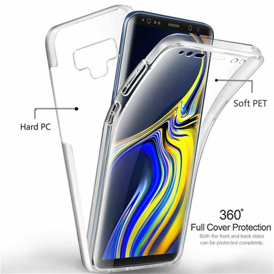 Lüks 360 PET ve PC tam kapak telefon kılıfı için Samsung Galaxy A3 A5 A7 A6 A8 A9 2016 2017 2018 kılıfları kapak yumuşak silikon çerçeve