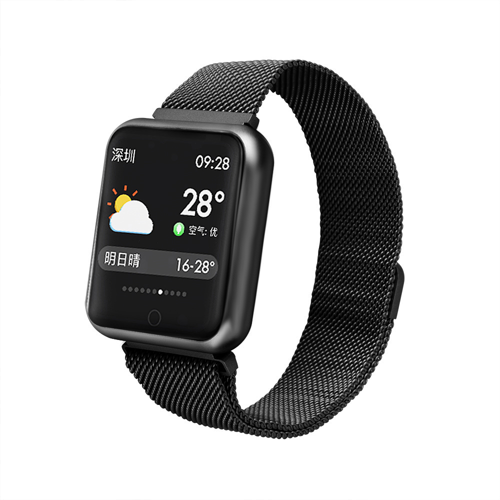 cheapest Sports IP68 Smart Watch P68 fitness bracelet activity tracker heart rate monitor blood pressure for ios Android smart watch band