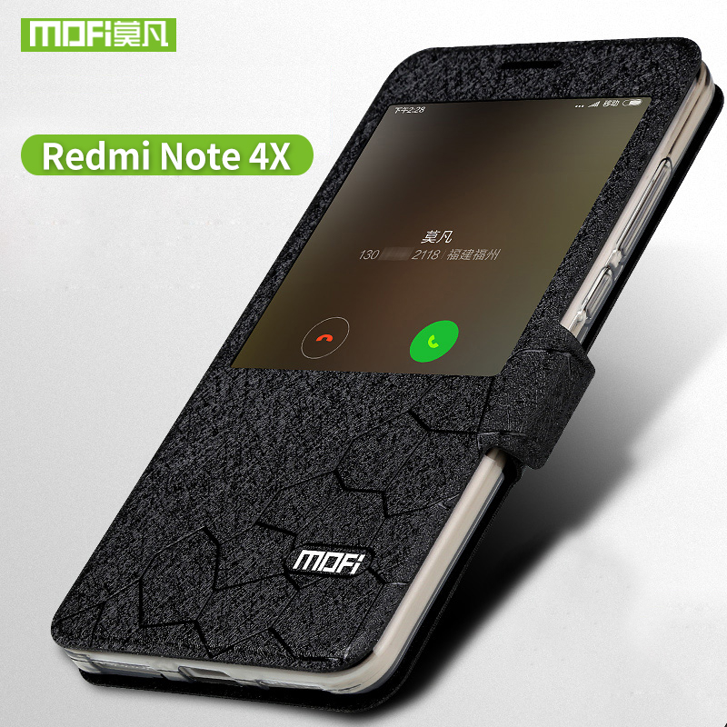 Xiaomi redmi note 4X Cas flip en cuir redmi note 4x cas De Silicium TPU retour couverture MOFi D'origine Xiaomi redmi note 4X cas dur capa