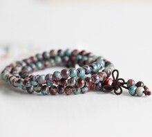 Women Handmade Ceramic Bracelets & Bangles Fashion Bohemia Elegant Jewelry  Beaded Accessories Ethnic Tibetan Red Blue Green