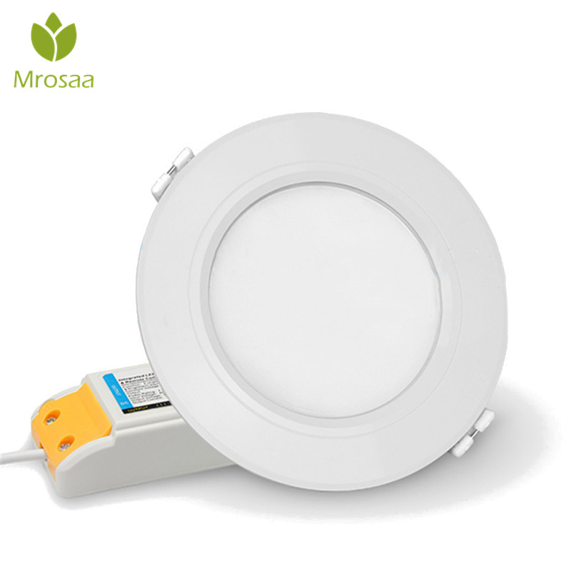 Mrosaa Downlights 6W Milight Wireless Dimmable LED Downlight Smart Blub RGB CCT Ceiling Lamp AC86-265V Indoor Lighting Lamp