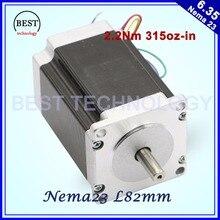 NEMA 23 CNC Stepper motor 57x82mm 3A 2.2N.m 315Oz-in Nema23 CNC Router Engraving milling machine 3D printer High Quality