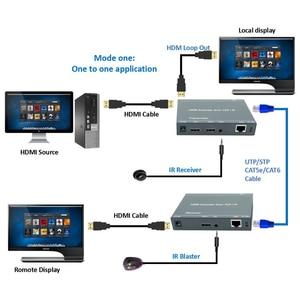 Image 2 - 2020 ZY DT209 RJ45 HDMI Extender IP Over UTP/STP CAT5 CAT5e CAT6 Extensor HDMI With IR LAN Network 200m HDMI Extender Ethernet