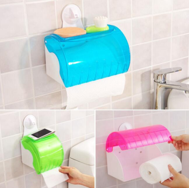 Присоски ткани Box Туалет Бумага держатель творческая коробка рулон стойки Водонепроницаемый roll Держатели бумаги