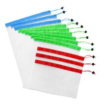 12x Reusable Produce Bags Mesh Vegetable Fruit Toys Container Pouch Bag