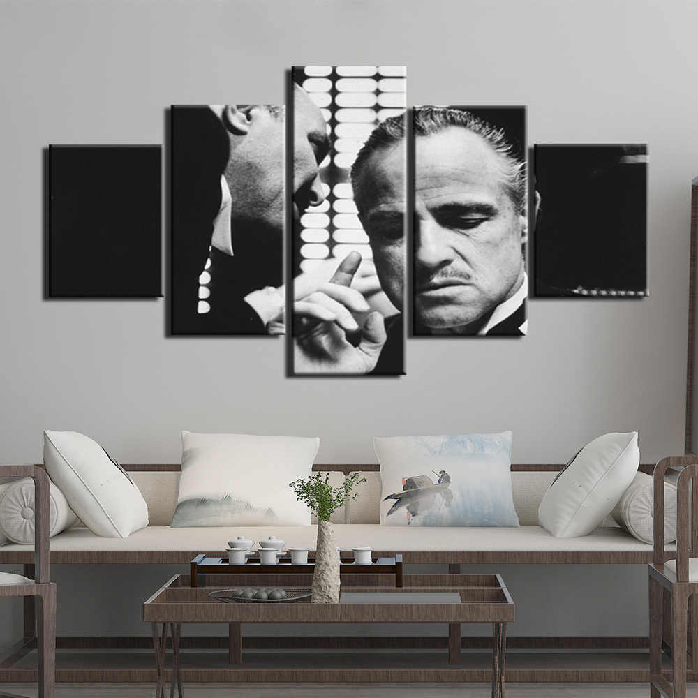 HD Print 5 Pieces Canvas Art Decoration Pictures Godfather Posters Painting Wall Art Home Decoration for Living Room