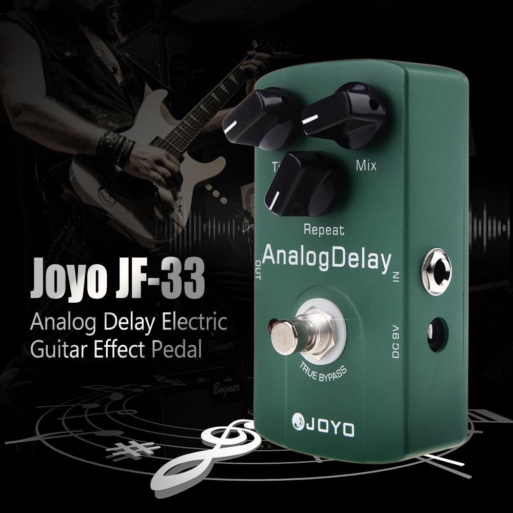 Joyo JF 33 Analog Delay Electric Guitar Effect Pedal True Bypass High Quality Guitarra Pedal Guitar