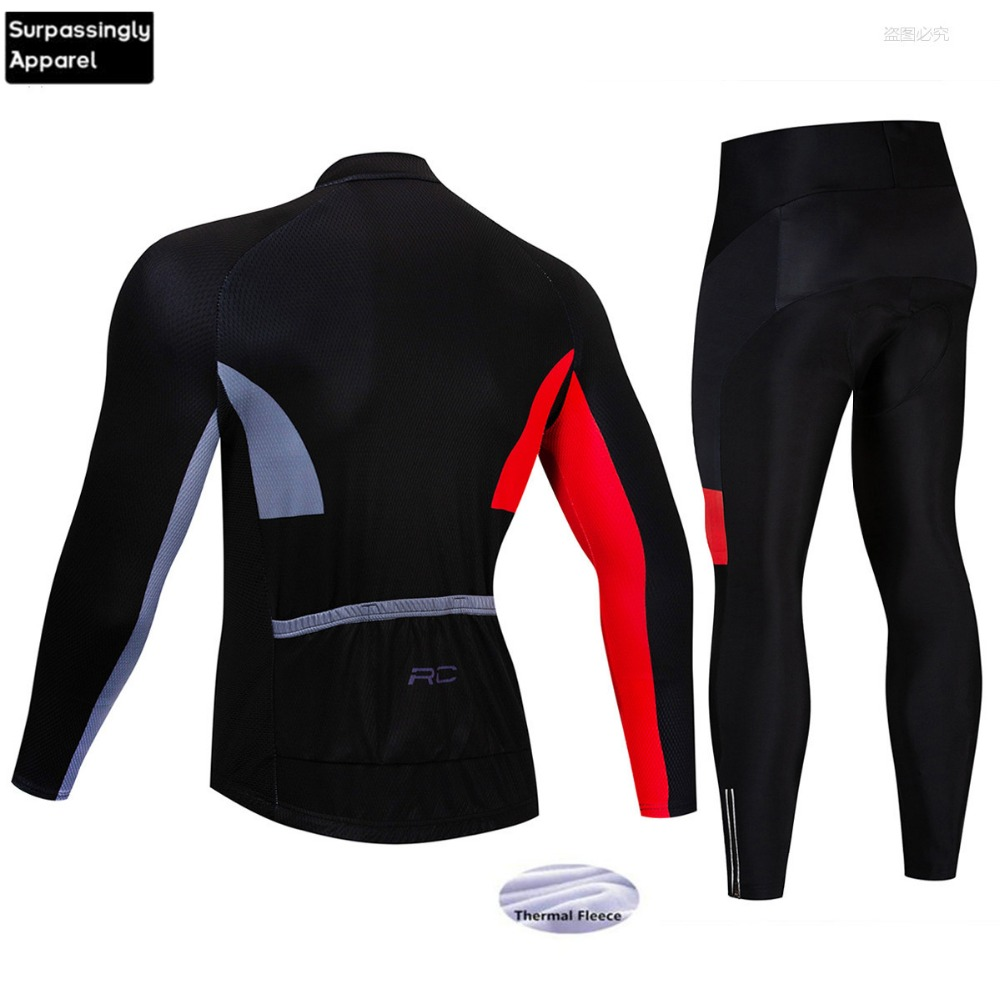 2019 Racing Team Cycling Jersey 9D Gel Pad Winter Thermal Fleece Long Sleeve MTB Suit Maillot Bike Clothing Ropa Ciclismo Wear in Cycling Sets from Sports Entertainment