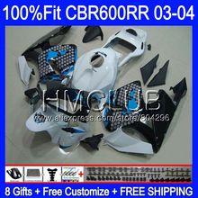 Литые изделия для Honda CBR600 RR CBR 600RR 600F5 03 04 63HM21 CBR600F5 граффити синий CBR600RR F5 03 04 CBR 600 RR 2003 2004 обтекателя