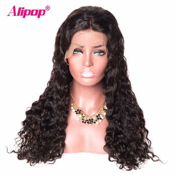 180% Density Malaysian Water Wave Wigs Remy 13x4 Lace Front Human Hair Wigs With Baby Hair ALIPOP Lace Front Wig Pre Plucked