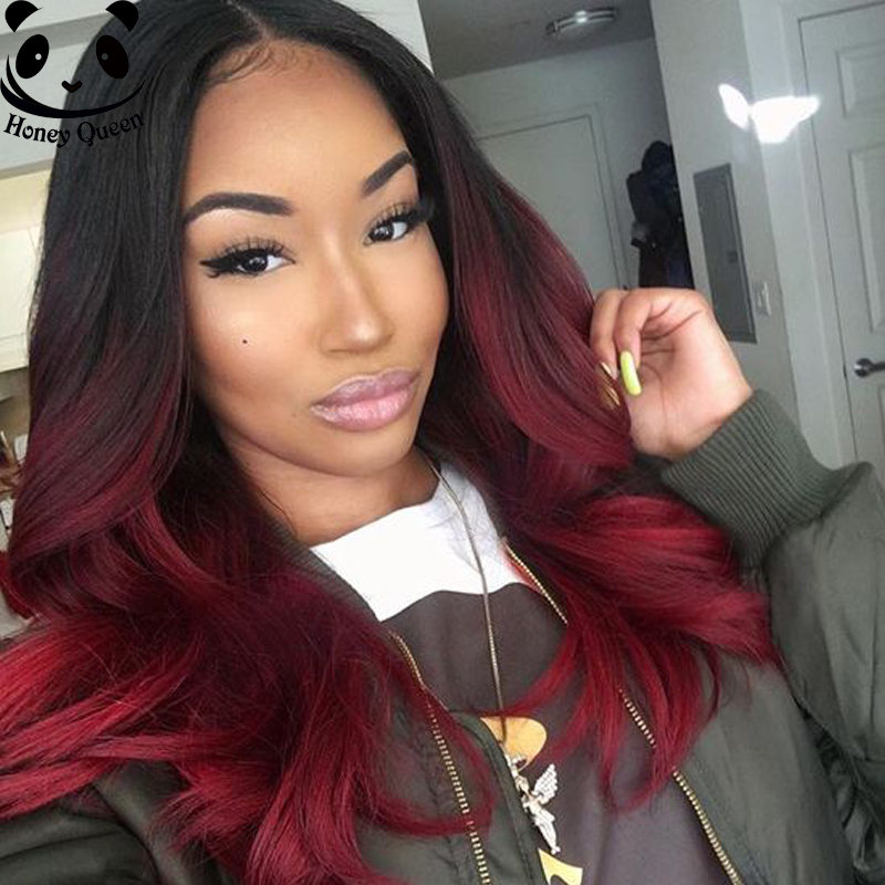 7A Ombre Lace Wig Full Lace Human Hair Wigs For Black