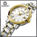 Vidro de Safira Relógios das mulheres Moda de Luxo Relógio de Quartzo Lady Casual Aço Inoxidável relógio de pulso à prova d' água Relojes Mujer