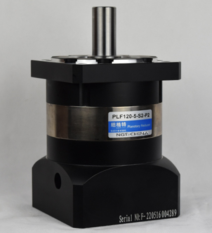 PLF120 130mm planetary gear reducer ratio 3:1 to 10:1 for AC servo motor shaft diameter 24mm nema23 geared stepping motor ratio 50 1 planetary gear stepper motor l76mm 3a 1 8nm 4leads for cnc router