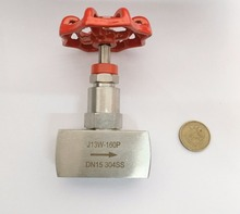 1/2″ (DN15) needle valve . Stainless steel 304 .Red