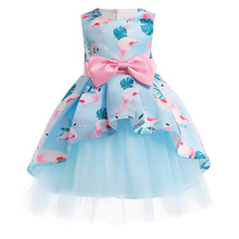 Girls Dress Summer girl floral Princess party Dresses Children clothing Wedding tutu baby girl Clothes 2 3 4 5 6 7 8 9 10 Years