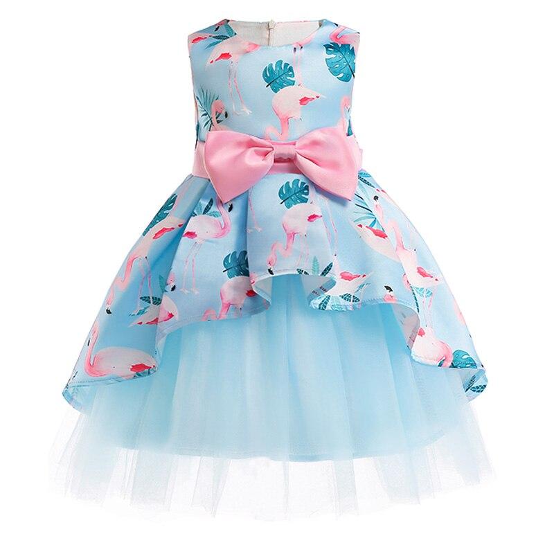 Vestido niñas vestido princesa floral princesa vestidos de fiesta niños ropa tutú de la boda Bebé Ropa 2 3 4 5 6 7 8 9 10 años