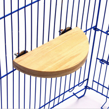 Bird Parrot Wood Platform Hamster Branch Perches Station Board For Cage Accessories semicircle bird jumping platform