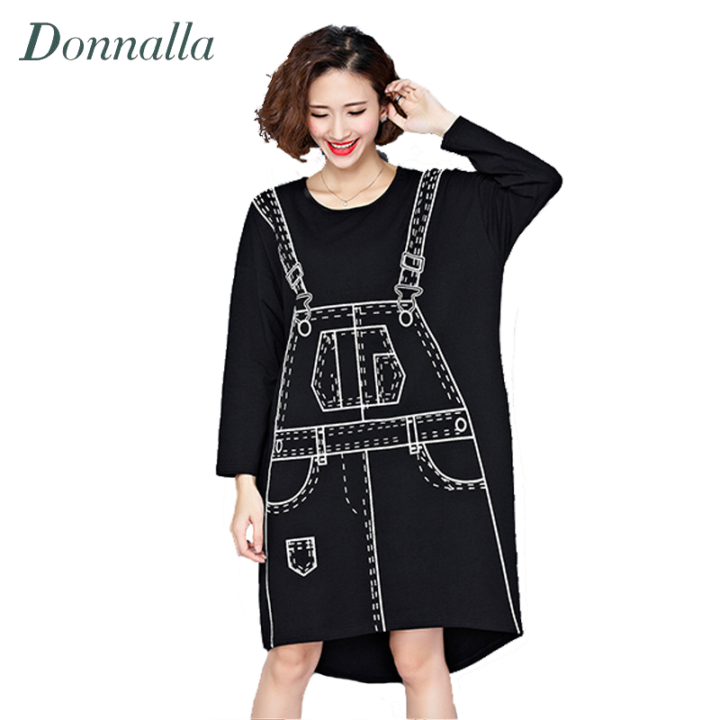 Women Dress Spring Autumn Oversized T Shirt Dress Casual