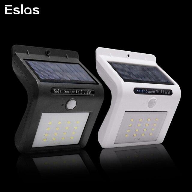 Eslas Nieuwe 16led Solar Light Control Body Sensor Light Outdoor Tuin Wandlamp Geïntegreerde Straat Licht Gratis Verzending
