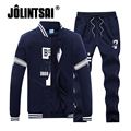 Jolintsai Mens Hoodies&Sweatshirts Men's Sportwear  2017 Sweatshirt Men Sudaderas Hombre Tracksuit Men Sweat Suit Pant Set