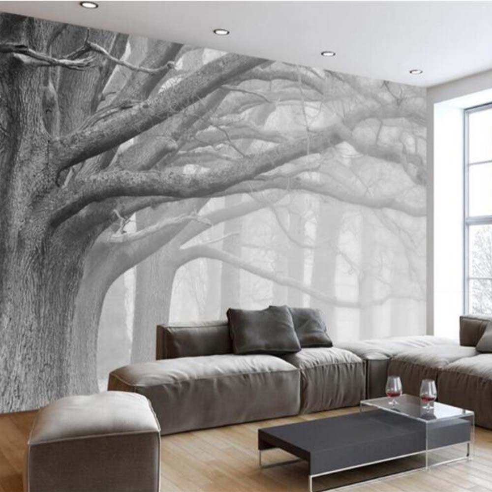 living tree modern mural 5d forest bedroom 3d tv canvas wall murals walls 8d paper wallpapers alibaba
