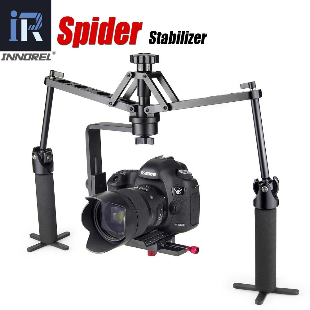 Handheld steadicam estabilizador de vídeo aranha rig para dslr camera canon 5d2 5d mark iii 70d camcorder steadycam mecânica